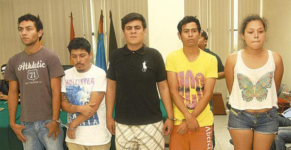 Los detenidos presentados