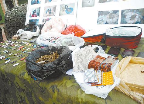 Control. Cocaína, marihuana y psicotrópicos destinados al microtráfico que fueron decomisados. Foto: Juan Mejía-archivo