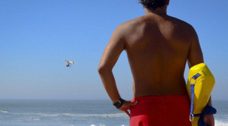 Dron playa