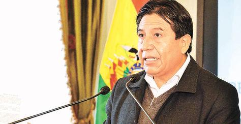 La Paz. El canciller David Choquehuanca, en su conferencia de ayer.