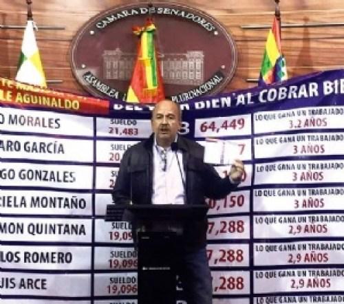 Murillo pide que doble aguinaldo no beneficie a altas autoridades