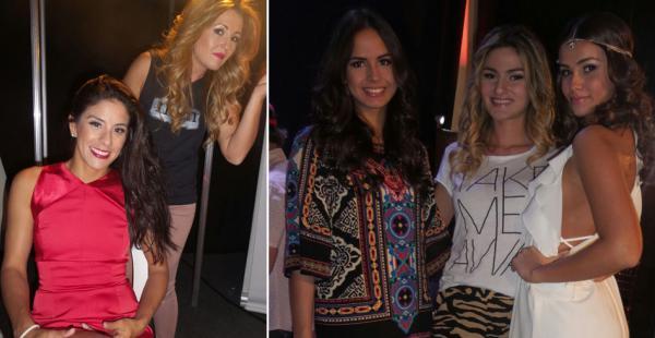 Backstage. Las modelos Ma.Jose Jaramillo, Camila Sanabria y Veronica Weise