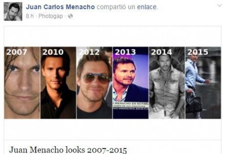 Publicación de Juan Carlos Menacho en Facebook