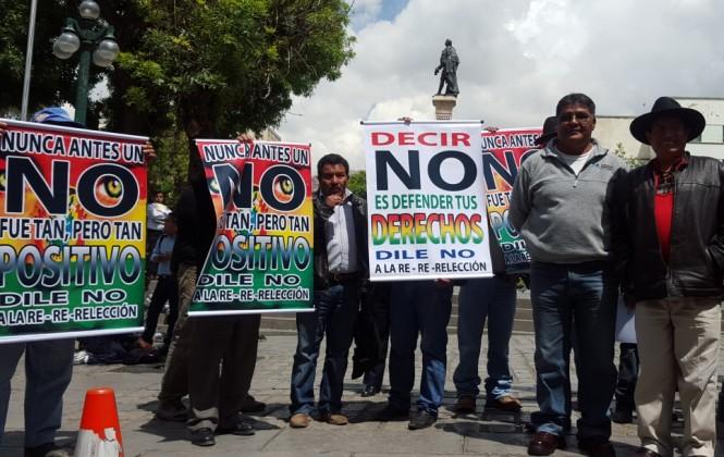 """Inician """"cruzada"""" por el No a la reelección de Evo"""