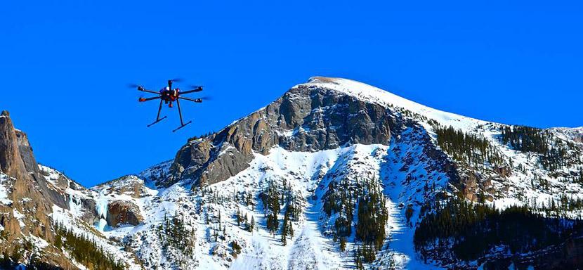 drones avalanchas Drones con explosivos para provocar avalanchas controladas