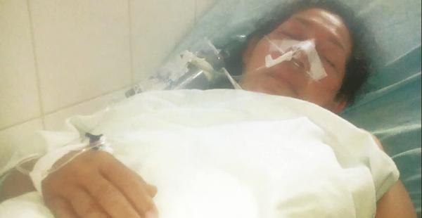 Cristina Menacho, cuando estaba en el hospital Japonés