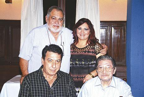 Raúl Condarco, Lidia Méndez, Juan Carlos Rodríguez e Isaac Sandóval