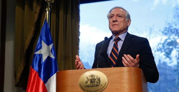 El canciller de Chile brindó una conferencia de prensa para responde a las declaraciones del presiente Evo Morales