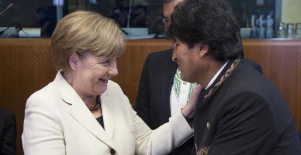 La canciller alemana se reunirá con el mandatario nacional en Berlín este martes