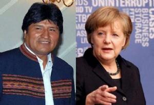 Evo se reunirá mañana con Merkel para tratar temas de cooperación