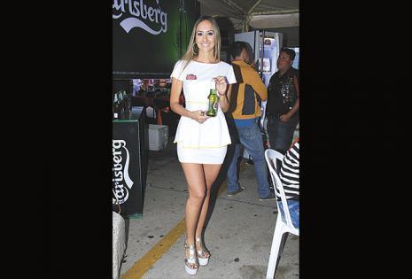 Steffy Ortiz, de la marca de cerveza Stella Artois
