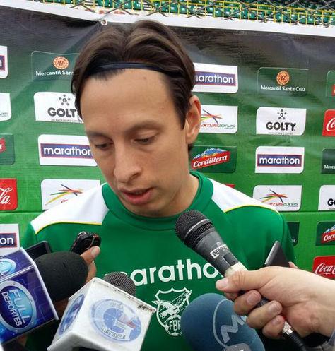 Martín Smedberg, volante de la selección boliviana.