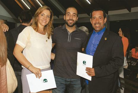 Érika Franco y Edmundo Farah fueron felicitados por Nicolás Farah por sus grandes desempeños