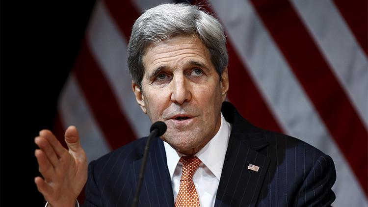 El secretario de Estado de EE.UU., john Kerry, durante las negociaciones sobre Siria en Viena, Austria. 14 de noviembre de 205.