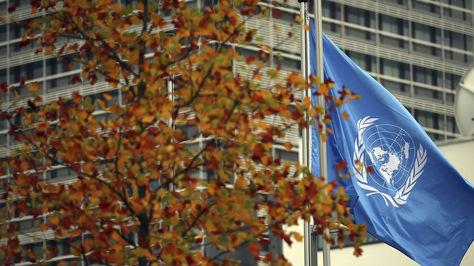 CONFERENCIA SOBRE EL CAMBIO CLIMÁTICO DE LA ONU EN BONN. La bandera de la Onu ondea durante la conferencia sobre el cambio climático organizado por las Naciones Unidas celebrada en el World Conference Center de Bonn (Alemania) hoy, 20 de Octubre 2015. Foto: EFE