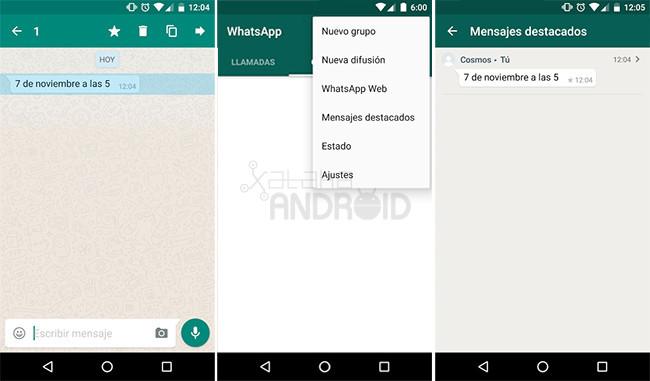 Whatsapp Mensajes Destacados