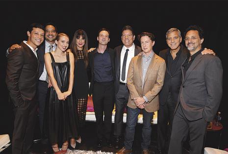 Parte del elenco de la película. Gordon dijo que se logró formar un gran equipo y destacó la labor del boliviano Reynaldo Pacheco