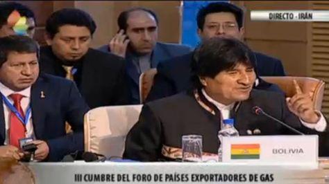 El presidente Evo Morales participa en la III Cumbre del Foro de Países Exportadores de Gas. Foto: @mincombolivia