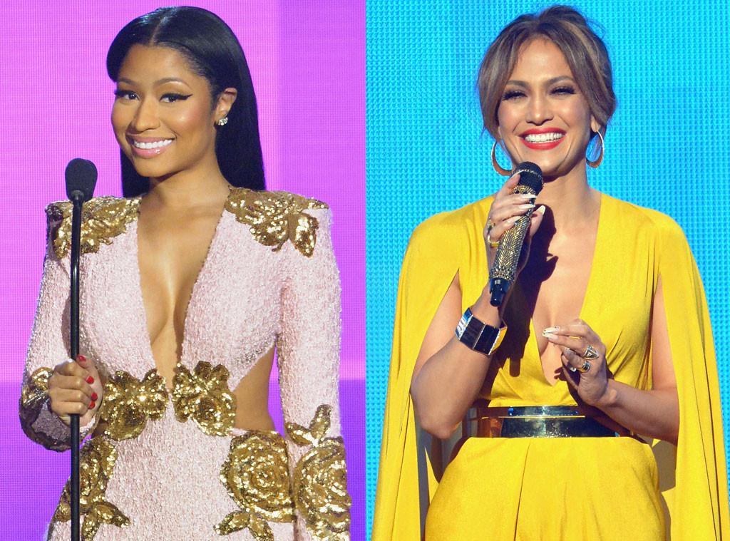 Jennifer Lopez, Nicki Minaj, American Music Awards 2015