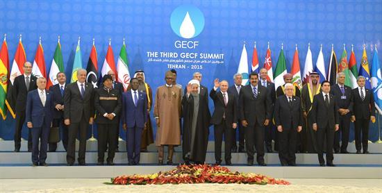 La foto oficial de la III Cumbre de Países Exportadores de Gas, en Teherán. -   Efe Agencia