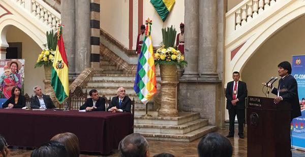 El acto de reconocimiento se desarrolla en Palacio de Gobierno en La Paz