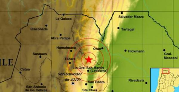 El norte argentino, frontera con Bolivia, tembló este domingo. No se reportaron daños