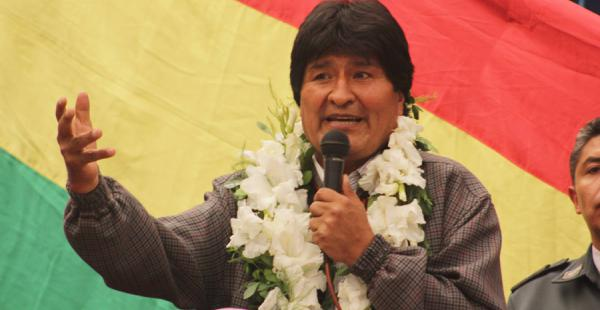 El presidente Evo Morales durante un acto en el departamento de Oruro el pasado jueves