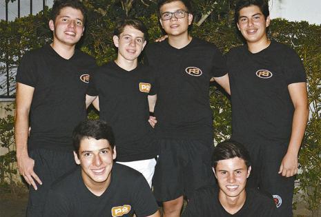 PELADITOS. Samuel Ortiz (vice), José Eduardo Valle, Rudolf Schmitz, Álvaro Vaca Díez, José Andrés Careaga y Franco Cambruzzi