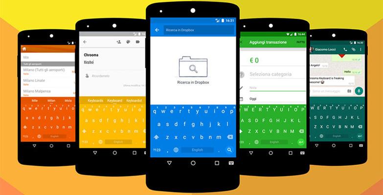 chrooma El teclado Chrooma Keyboard cambia de color según la app que utilices