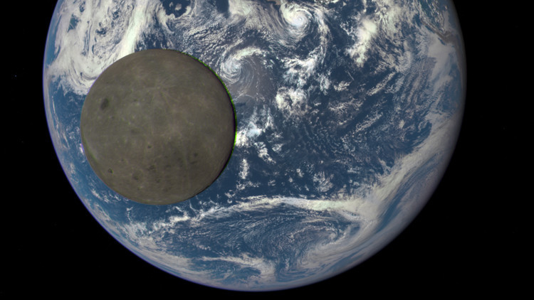 La parte oscura de la Luna