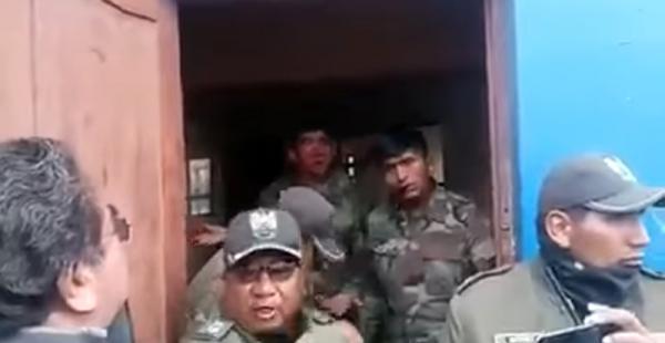 Militares en Tambo Quemado