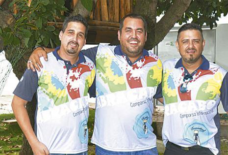 Federico Díaz, Carlos Calvo y Maximiliano Gutiérrez