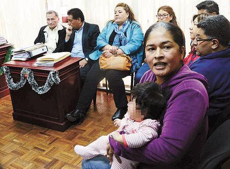 La Paz. La exfuncionaria de YPFB Selva Camacho en la audiencia. Foto: Alejandra Rocabado