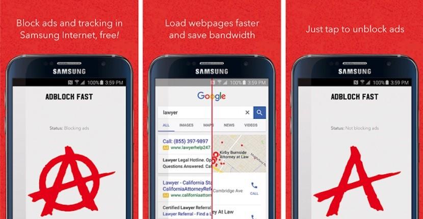 adblock fast samsung 830x431 Comienza la guerra entre Google y Samsung