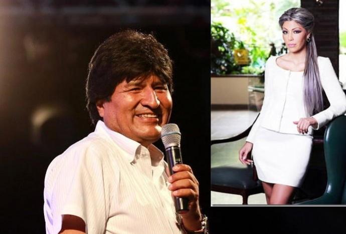 Gabriela Zapata publicó varios mensajes de admiración a Evo Morales. Fotos: Archivo