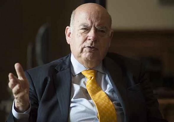 El agente de Chile ante la Corte Internacional de La Haya, José Miguel Insulza. -   Afp Agencia