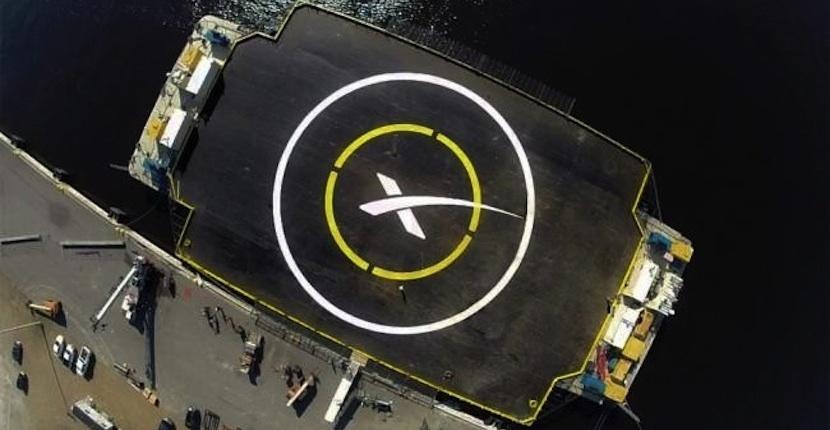 plata SpaceX ultima detalles para volver a intentar aterrizar sobre el mar