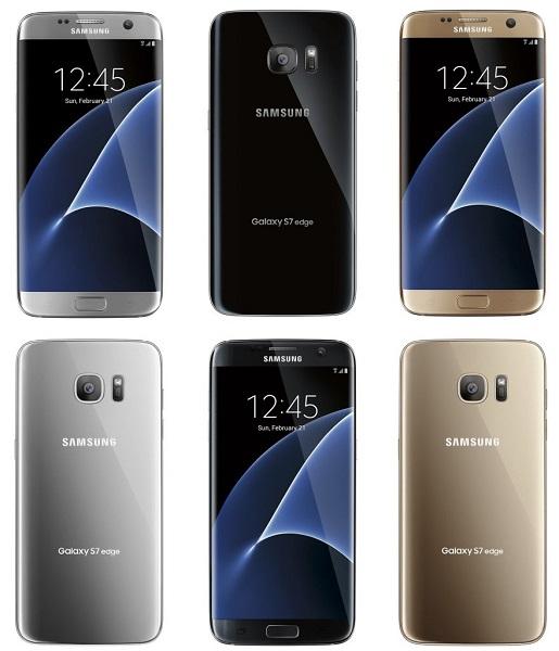 Samsung Galaxy S7 El Samsung Galaxy S7 edge se deja ver por completo en sus 3 versiones de color
