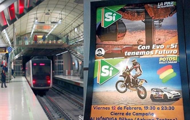El metro de Bilbao, España, retira propaganda por el Sí, que habría sido pagada por el consulado