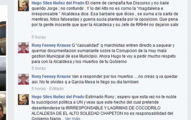 """Ministro Siles asegura que Soledad Chapetón es una """"Magdalena"""
