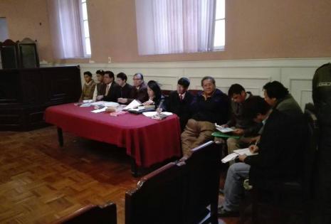 Braulio Rocha en la audiencia de medidas cautelares.