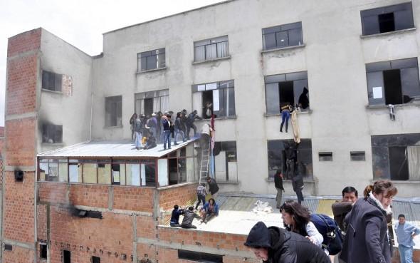 Incendio en instalaciones de la Alcaldía de El Alto. | Foto archivo -   Apg Agencia