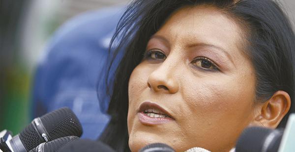 Soledad Chapetón es alcaldesa de la ciudad de El Alto desde marzo de 2015, elegida por