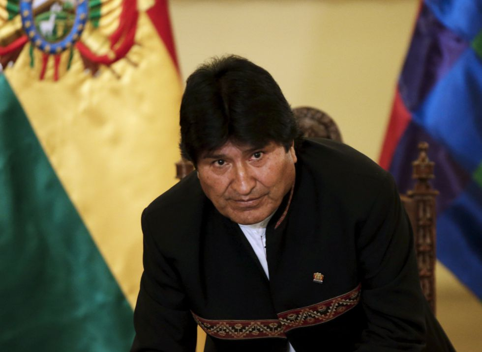 El presidente Evo Morales en una conferencia en La Paz.