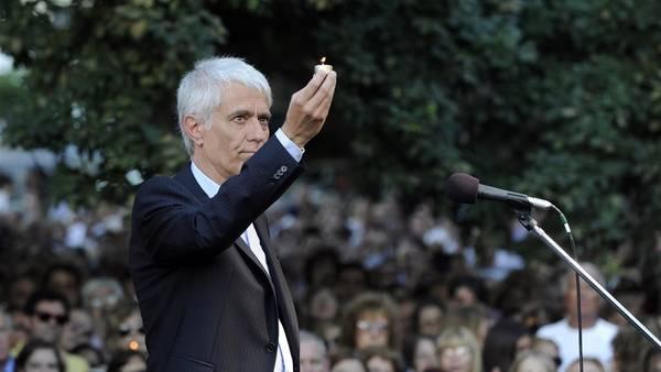 El fiscal Sáenz, en la onvocatoria a 1 año de la muerte del fiscal Nisman. Foto. Maxi Failla