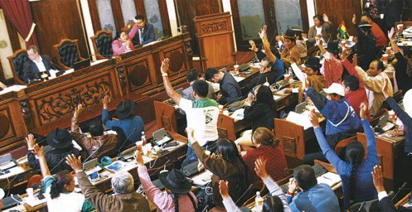 Los congresistas del MAS en la Asamblea Plurinacional tiene a la mayoría de los miembros (siete asambleístas ) de la comisión multipartidaria