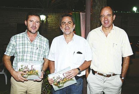 Jorge Ávila, Hernán Saavedra y Carlos Landívar