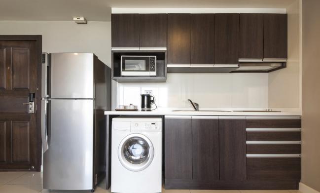 D nde colocar la lavadora cuando hay poco espacio - Donde colocar tv en cocina ...