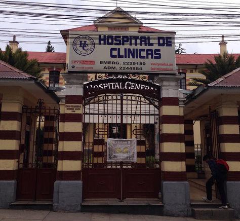 El hospital de Clínicas de La Paz. Foto: wordpress.com