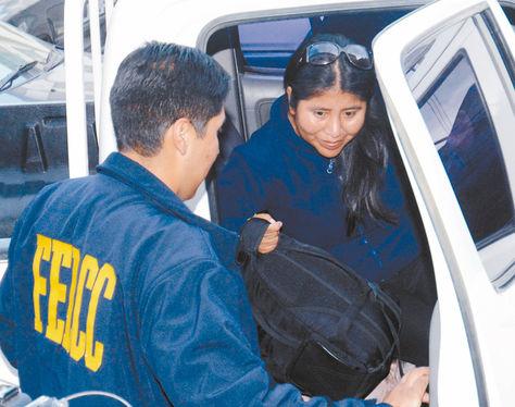 Audiencia. El 2 de marzo, Choque fue enviada con detención preventiva al Centro de Orientación Femenina (COF).
